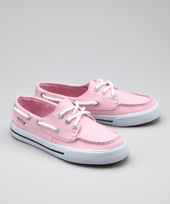 Nautica Light Pink Tomales Bay Boat Shoe