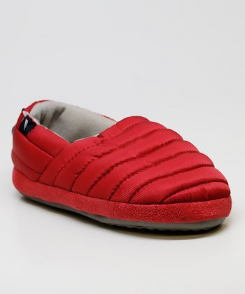 Red Nylon Toggle Slipper