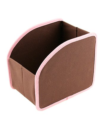 Brown & Pink Small Stuff Cubby