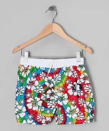 Rainbow Twisted Summer Boardshorts