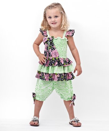 Green Tunic & Capri Pants - Infant