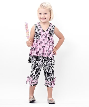 Zebra Surplice Tunic & Capri Leggings - Infant