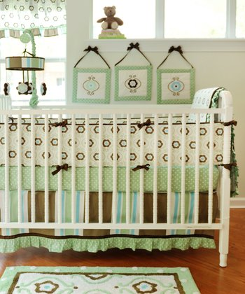 New Arrivals Green & Brown Forget-Me-Not Bedding Set