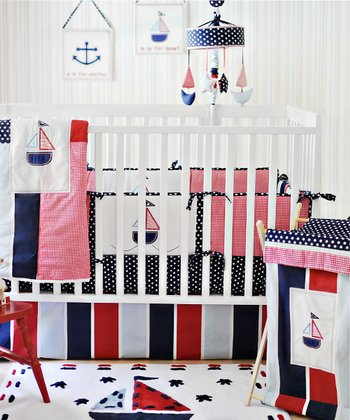 New Arrivals Ahoy Mate 4-Piece Crib Bedding Set
