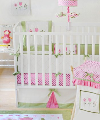 New Arrivals Pink & Green Tickled Pink Bedding Set