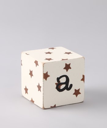 Chocolate Distressed 'A' Letter Block