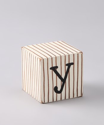 Chocolate Distressed 'Y' Letter Block