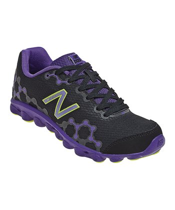 Black & Purple Grade School Minimus Ionix 3090 Running Shoe