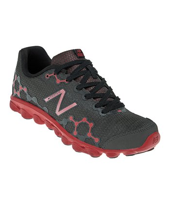 Gray & Red Grade School Minimus Ionix 3090 Running Shoe