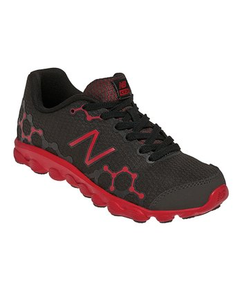 Black & Red Preschool Minimus Ionix 3090 Running Shoe