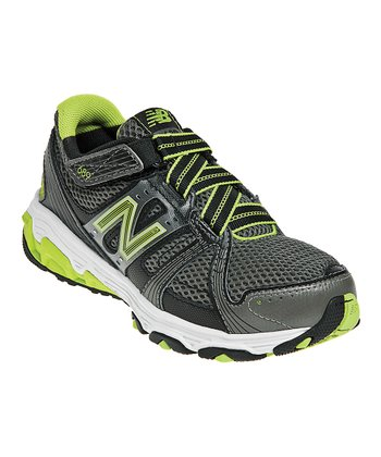 Black & Green Grade School KV689 Running Shoe