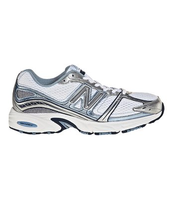 New Balance Silver & Blue Running Shoe