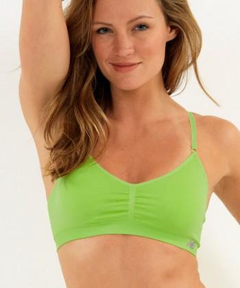 Poison Green Performance Seamless T-Shirt Bralette