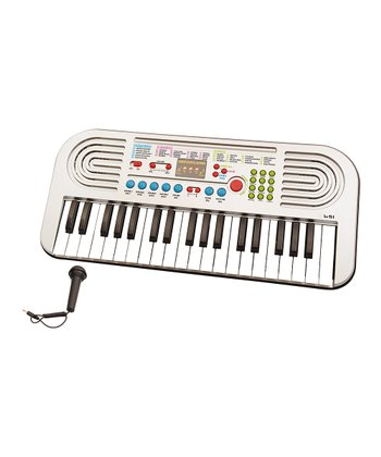 Silver USA Music Pro 37-Key Keyboard & Microphone