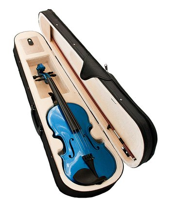 Blue 1/2 Size Violin Set