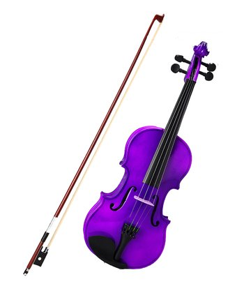 Purple 1/4 Size Violin Set