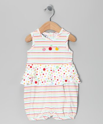 Pink Juicy Fruit Skirted Sleeveless Romper - Infant