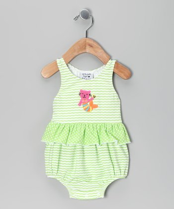 New Potatoes Green Sea Creature Sunsuit - Infant