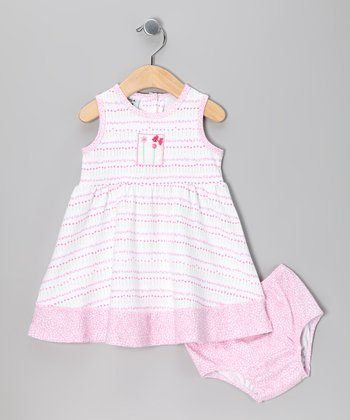 Pink Tiny Flower Dress & Diaper Cover - Toddler