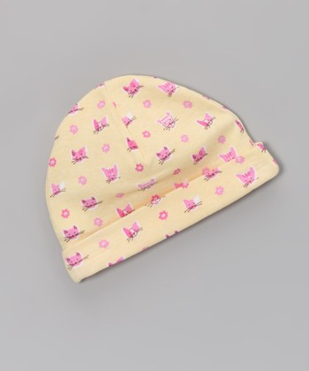­­­Yellow Cat's Meow Beanie