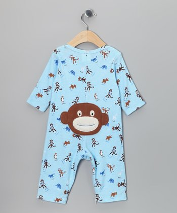 Blue Monkey Business Playsuit - Infant