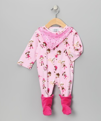 Pink Bandanna Mustang Sally Footie - Infant