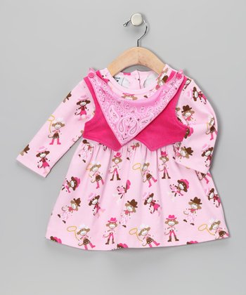 Pink Vested Mustang Sally Dress - Infant