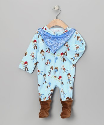 Blue Bandanna Spaghetti Western Footie - Infant
