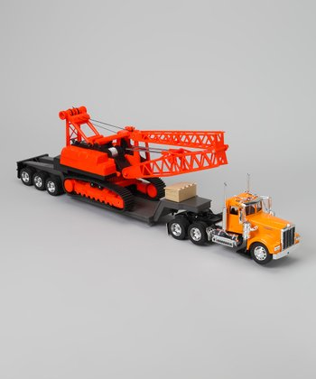 Kenworth W900 Lowboy & Construction Crane Set