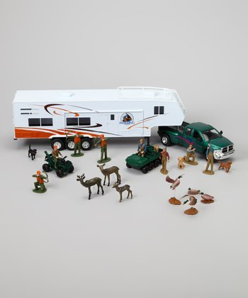 Pickup Truck & Hunting Camper Set