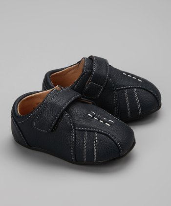 Navy Topstitch Casual Shoe