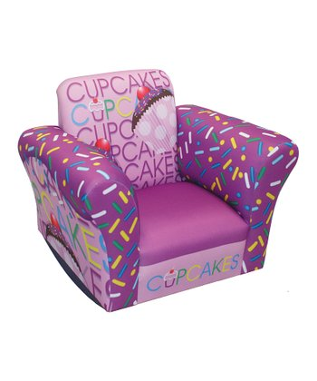 Lavender Cupcake Collection Standard Rocker