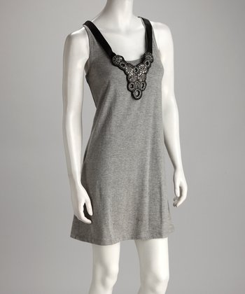 Heather Gray Necklace Dress - Women