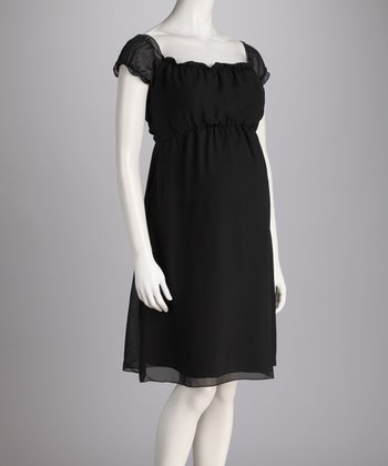Black Amore Maternity Dress