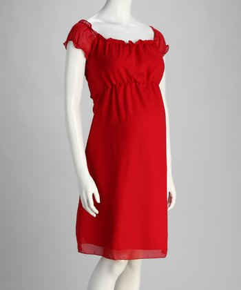 Red Amore Maternity Dress - Plus