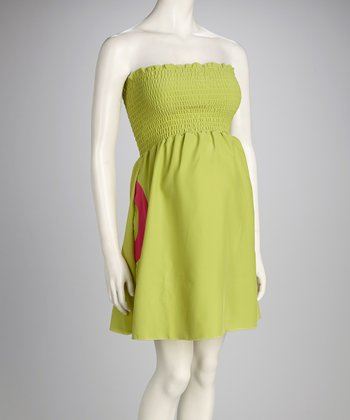 Lime Beautiful Day Maternity Strapless Dress - Women