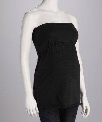 Black Maternity Tube Top - Women & Plus