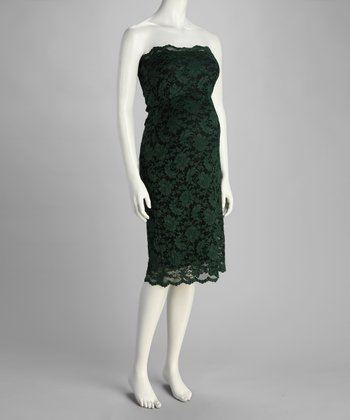Green Lace Maternity Dress - Women & Plus