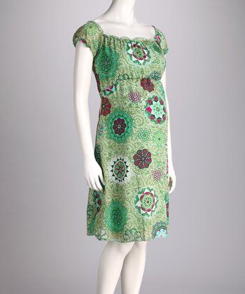 Green Bohemian Rhapsody Dress - Women