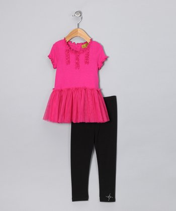 Fuchsia Lace Tunic & Leggings