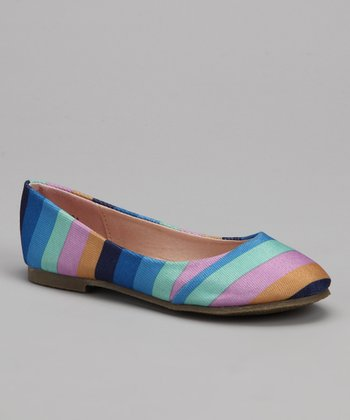 Blue & Purple Stripe Flat