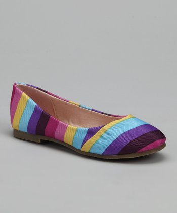 Purple & Pink Stripe Flat