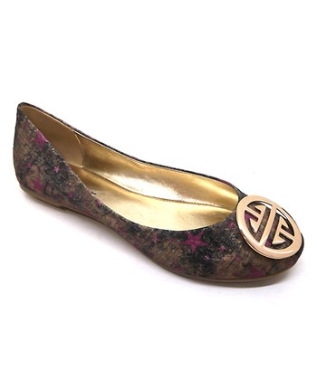 Gold & Purple Star Ballet Flat