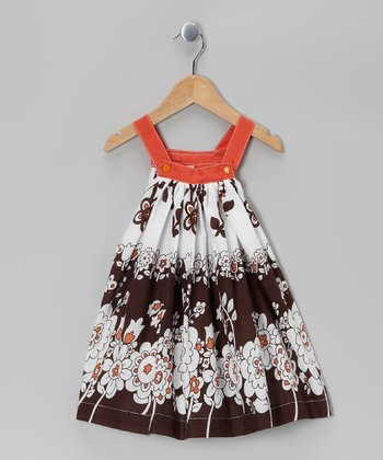 Brown & Orange Floral Jumper - Toddler & Girls
