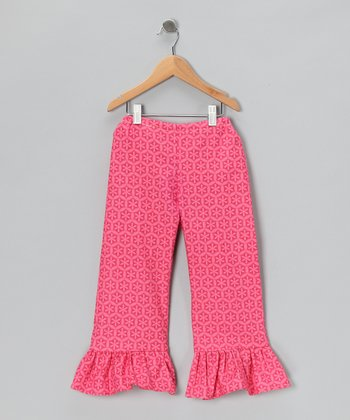 Pink Starburst Ruffle Pants - Toddler & Girls