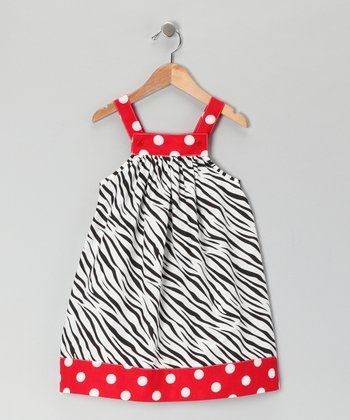 Red & Black Zebra Jumper - Toddler & Girls