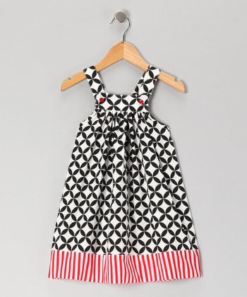 Nikkiloo Red & Black Diamond Circle Jumper - Toddler & Girls