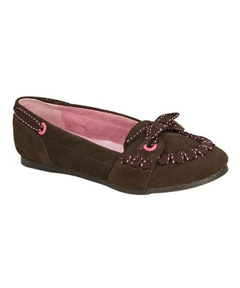 Nellie Brown Suede Slip-On Flats