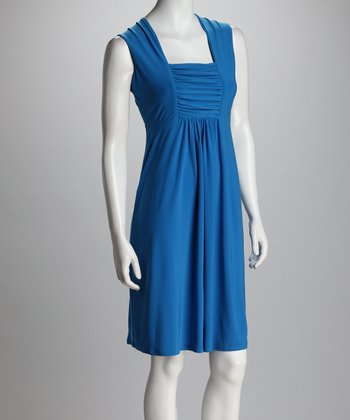 Cornflower Shirred Dress - Women & Plus