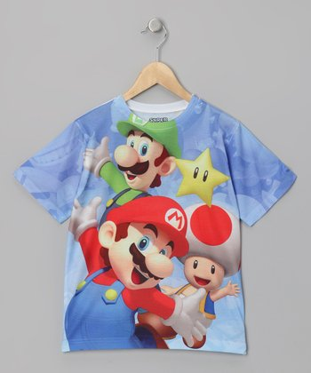 Blue Mario & Friends Sublistatic Tee